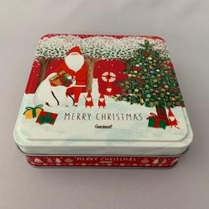 186 クリスマスミニ角缶